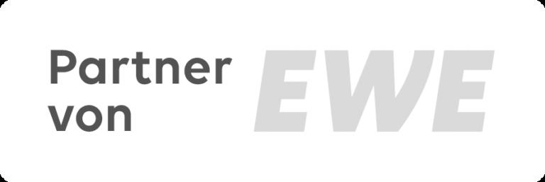 EWE Logo Partnerlogo on white